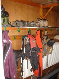 Drying rack for those occasional rainy days.