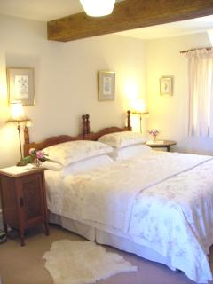Spacious twin or superking bedroom with ensuite shower room.