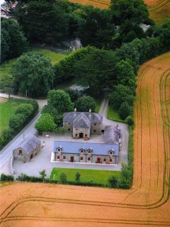 View from above the cottages