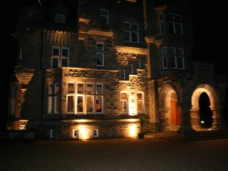 Dollarbeg Castle at night