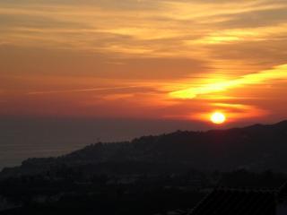 Sun-set from upper terrace