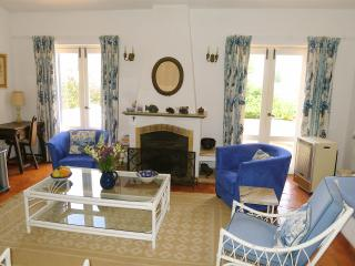 Living room, French windows open onto terrace