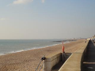 The Esplanade outside. Lovely for walks or bike rides. Access to Folkestone & Hythe