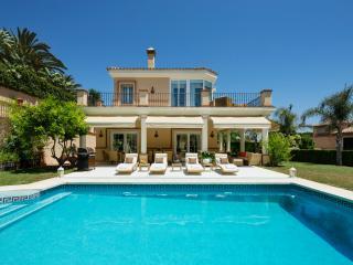pool and villa.