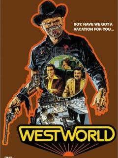 Boy, have we got a vacation for you. Westworld poster in bedroom.
