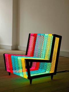 Going to make a yarn chair like this for the What is Sweet, What is Sour room.