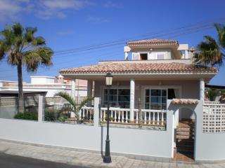 Front of villa on Beach