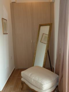 The dressing room in the double bedroom