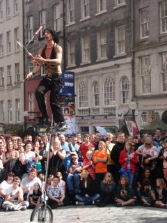 One of the many Street Performers in the Edinburgh during the Festival in August