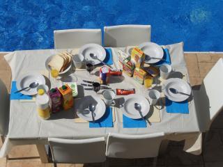Fancy Breakfast by the Pool
