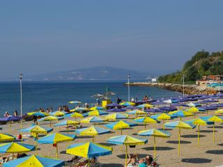 Balchik beach - walk through the botanical gardens