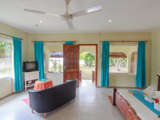 Coco Blanche Ocean View Villa - open plan with bed and lounge combined