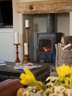 Living room with 4 kw Clearview logburner