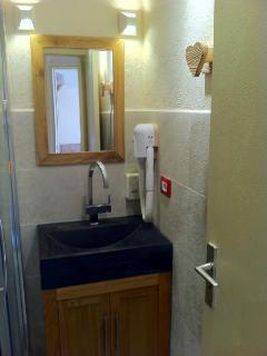 bathroom with hair-drier