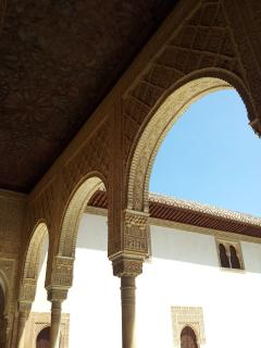 The Alhambra (Arabic: ??? ??????? - Qasr Alhamra '- Red Palace) is a palace and fortress of the
