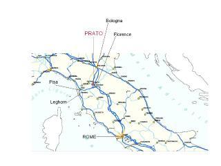The railway system just near Prato