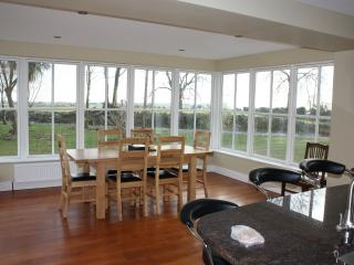 Kitchen is well-equipped, large and has magnificent sea and farmland views with great sunlight.