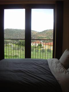 The view of the hills from the master bedroom