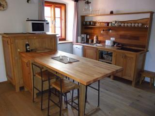 Dining area and well equipped kitchen inside the property