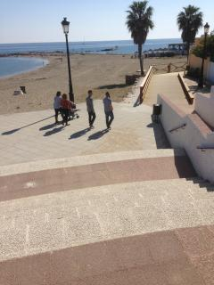 Steps to beach and walkways to Puerto Banus and San Pedro along the beach.