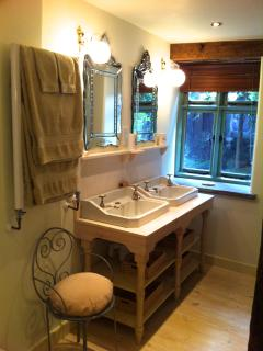 His & Her antique handbasins