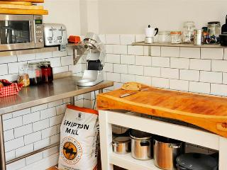 The butchers block in the kitchen