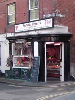Traditional butcher's shop in Ludlow