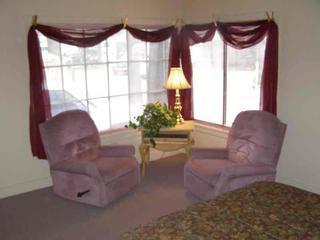 Window seating in master bedroom
