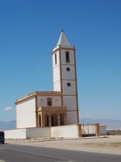 Iglesia de las Salinas sin electricidad aerea