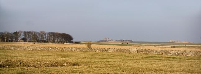 The view towards Bamburgh Castle