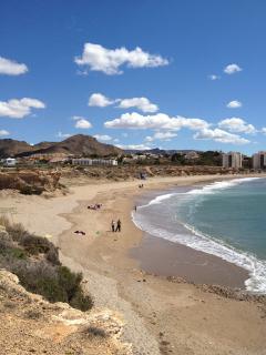 Isla Plana beach (5 mins drive)