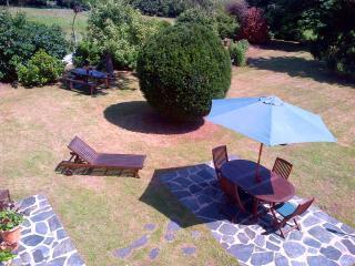 The peaceful rear garden