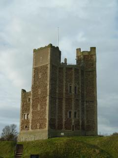 Orford Castle 3 minutes walk away