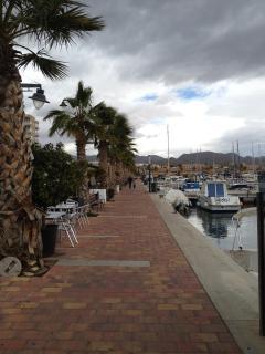 Mazzaron port, 10 mins drive away