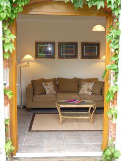 Salon garden entrance in the Cottage