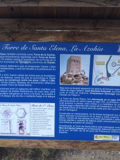 The tower at the far end of La Azohia