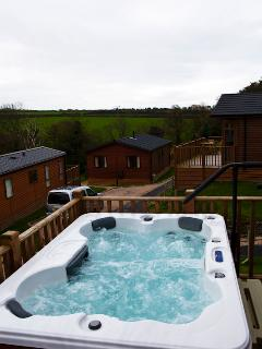 View of Hot Tub looking West towards Tintagel
