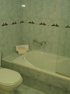 Family bathroom, with bath /shower, toilet & bidet
