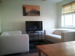 Sitting room view towards 2 three seater sofas