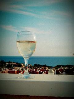 Enjoy a glass of wine on the roof and never get bored of the view