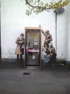 Is it a 'BANKSY' ? Have your photo taken in the phonebox. Less than 10 mins walk from the