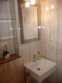 Luxury bathroom with complimentary toiletries