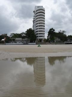 L'imeuble vu de la plage