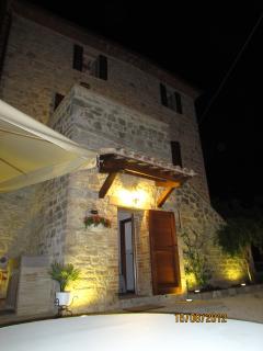 Villa Fiore Entrance nighttime