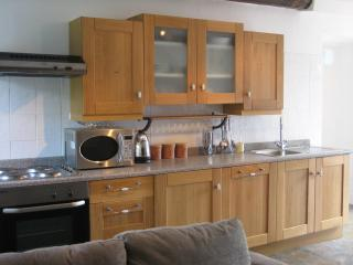 The Kitchen Area with dishwasher, washing machine, fridge freezer etc
