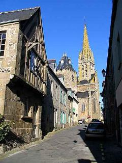The picturesque village of Bazouges nearby with artist's workshops