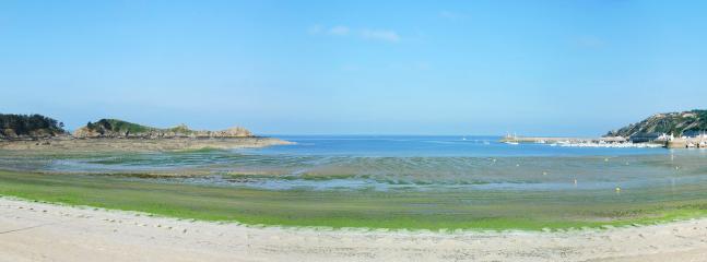 Beautiful sandy beach at Erquy