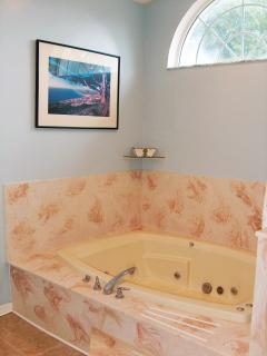 Master Bathroom / Jacuzzi Tub for two!