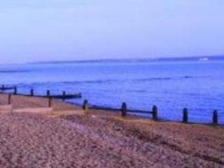 Hill head beach just a 2 minute walk away