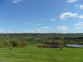 There are stunning views from Odle Farm.